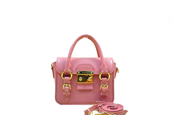 miu miu Madras Goat Leather mini Shoulder Bag RN1014 Pink