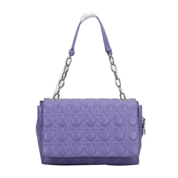 Dior Soft Flap Bag Two-Toned Lambskin Leather D1106 Lavender