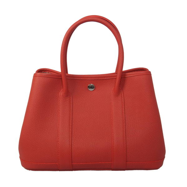 Hermes Garden Party 30CM Bag Calf Leather Red