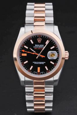 Rolex Milgauss Rose Gold&Black Stainless Steel 36mm Watch-RM3883