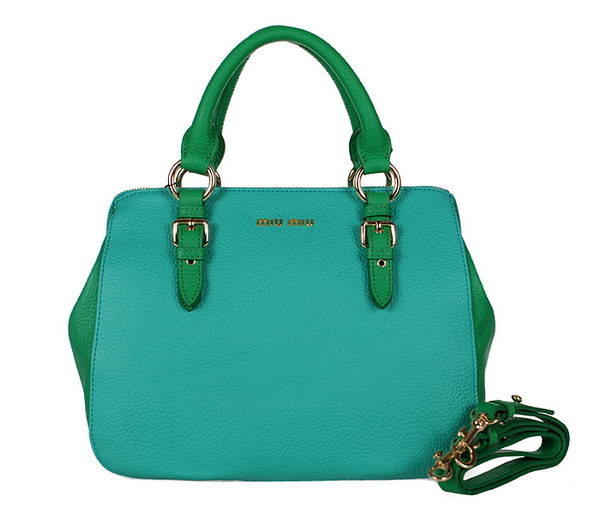 miu miu Grainy Madras Goat Leather Top Handle Bag RL0806 Green