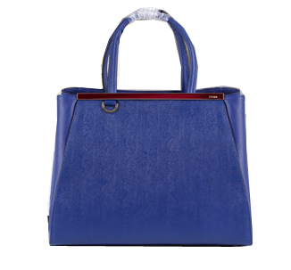 Fendi 2Jours Tote Bag Original Leather 8B8834 Royal