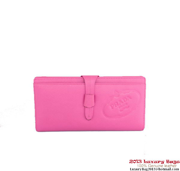 PRADA Saffiano Leather Wallet 2M5008 Rose