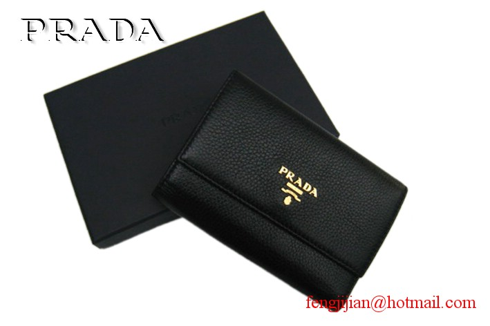 Prada Leather Wallet 1M0203 black