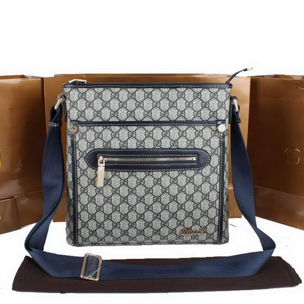 Gucci GG Plus Small Messenger Bag 301620 Blue