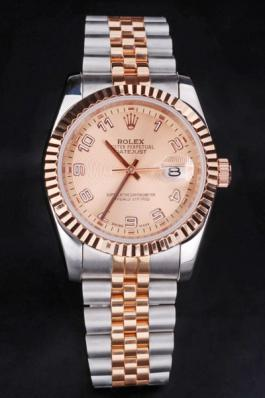 Rolex Datejust Rose Gold Surface Men Watch-RD3859