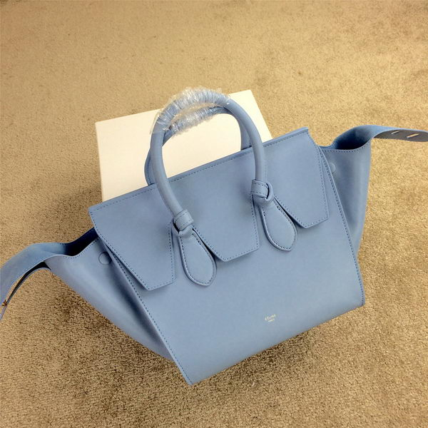 Celine Tie Nano Top Handle Bag Smooth Leather 98313 SkyBlue
