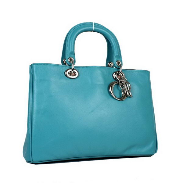Newest 2012 Christian Dior Small Diorissimo Bag Sheepskin Leather D0902 Turquoise