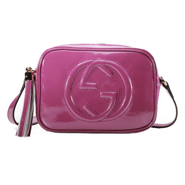 Gucci Soho Disco Bag Patent Leather 308364 Purple