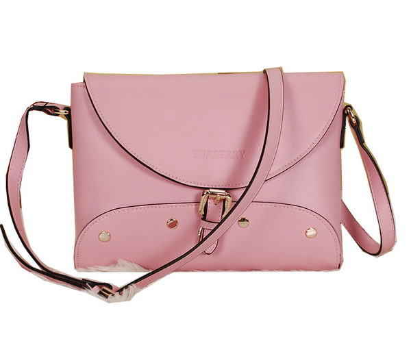 BurBerry Messenger Bag in Calfskin Leather B9181 Pink