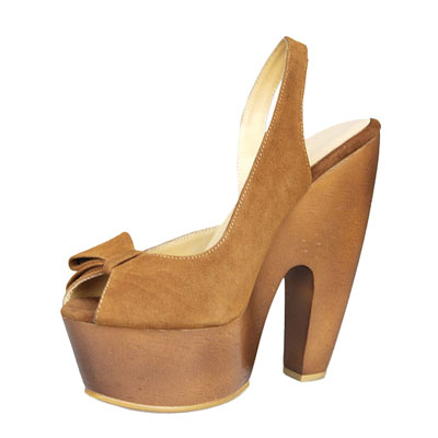 Gianmarco Lorenzi Suede Sandals Tan