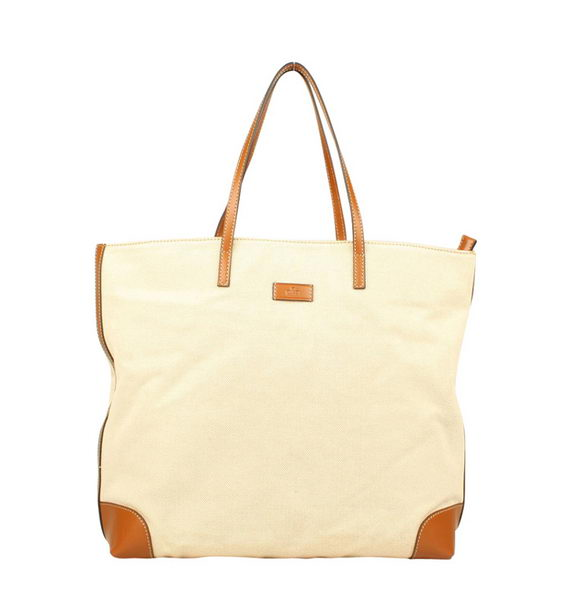 Gucci White Straw Top Handle Tote Bag 309551 Brown