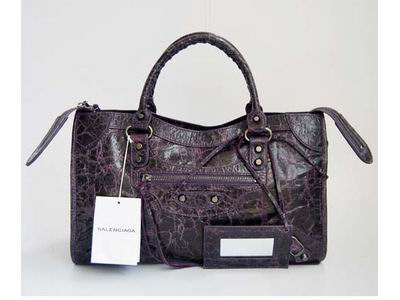 Balenciaga Giant City Shoulder and Tote Bag 084332 dark purple