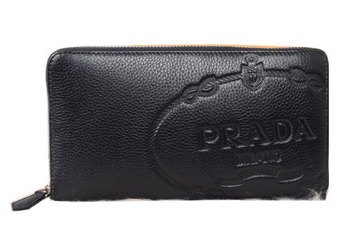 Prada Grainy Leather Clutch P2212 Royal