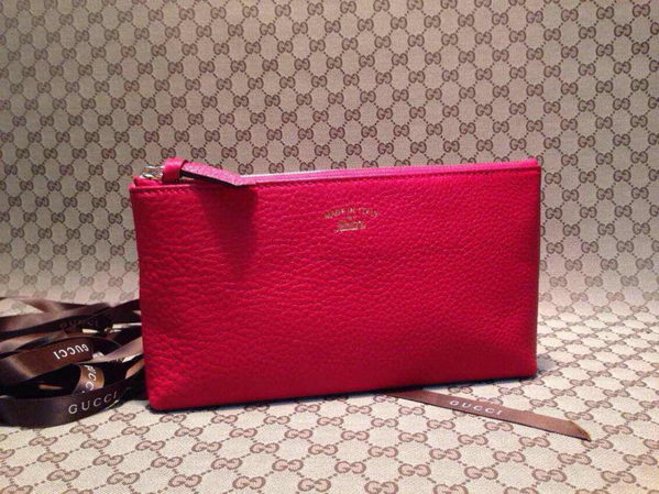 Gucci Swing Leather Pouch 368881 Red