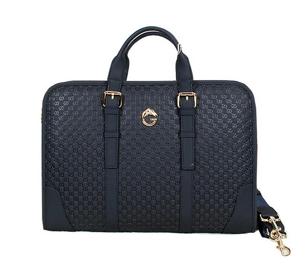 Gucci Guccissima Leather Business Briefcase 52284 RoyalBlue