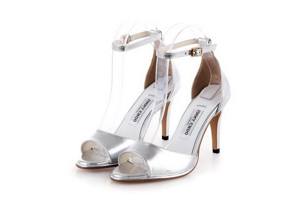Jimmy Choo Calfskin Leather Sandals JMC0222 Silver