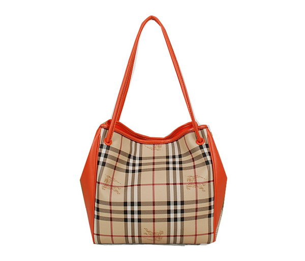 BurBerry Small Haymarket Check Tote Bag B5911 Orange