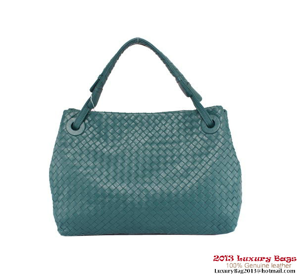 Bottega Veneta Intrecciato Nappa Shoulder Bag BV7054 Green