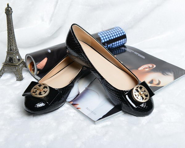 Tory Burch Ballerina Snake Leather TB1503 Black