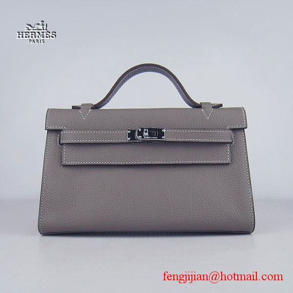 Hermes H008 cattle neck stripe grey bags