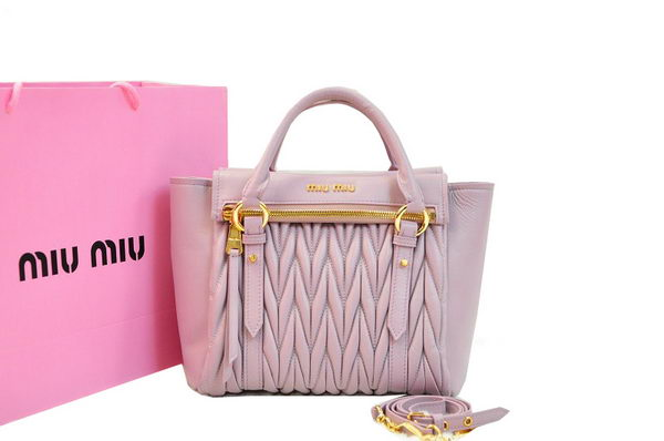 miu miu Matelasse Nappa Leather Bag RN0955 Light Purple