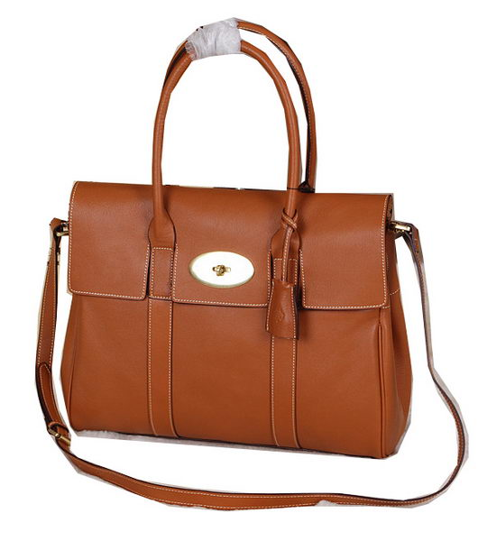 Mulberry Bayswater Tote Bag Natural Leather 5988 Brown