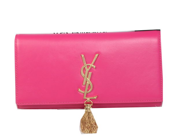 Yves Saint Laurent Classic Monogramme Tassel Clutch Y311212 Rosy