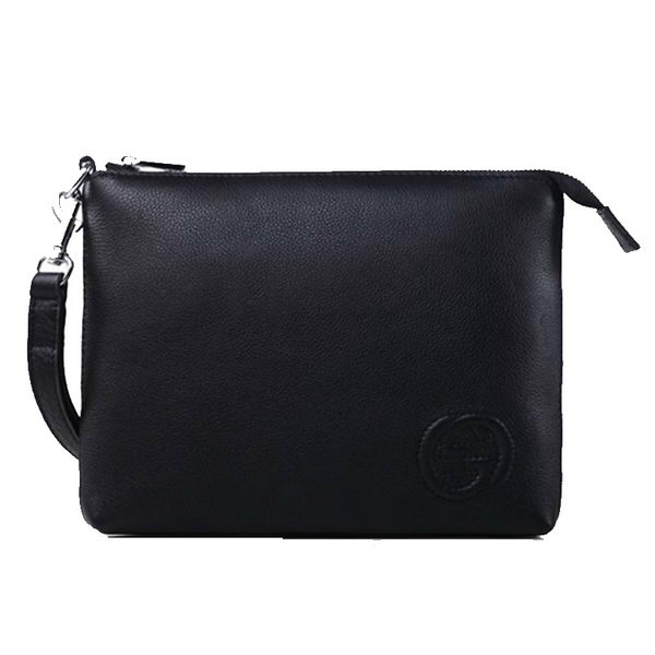 Gucci Calfskin Leather Travel Case 322054 Black