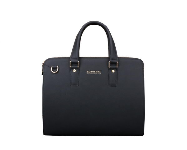 Burberry Calfskin Leather Mens Briefcase B80121 Black