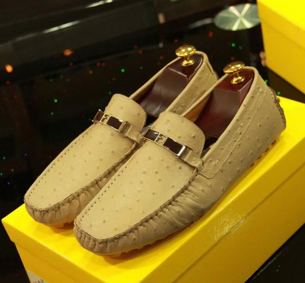 Fendi Casual Shoes Calfskin Leather FD056CK Apricot