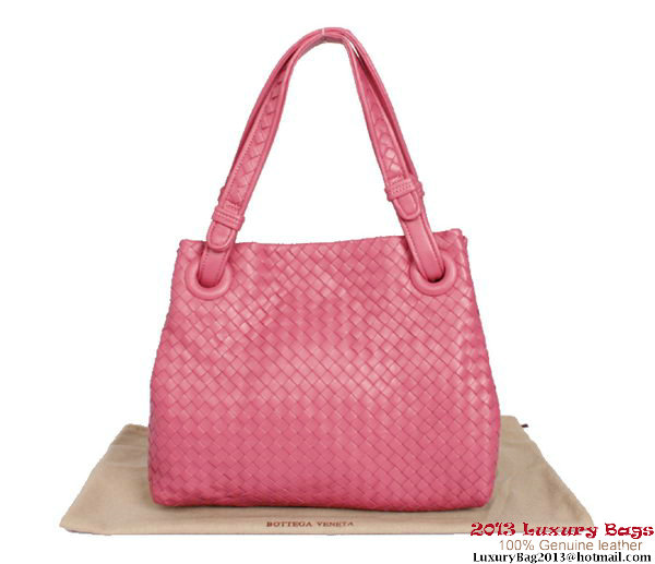 Bottega Veneta Intrecciato Nappa Shoulder Bag BV2731 Rose