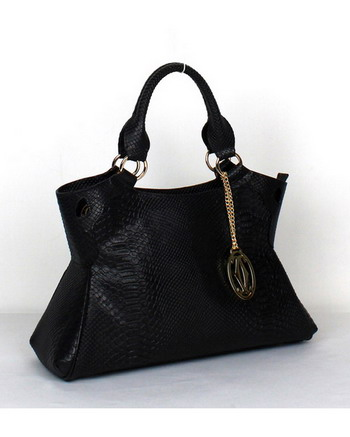 Cartier Marcello De Cartier Snake Veins Tote Bag 1000633 Black