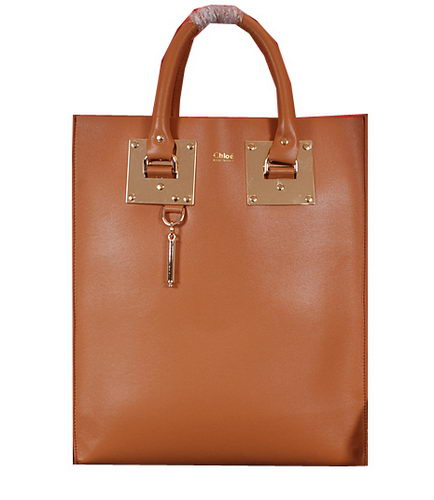 CHLOE Smooth Calfskin Leather Tote Bag 8679L Wheat