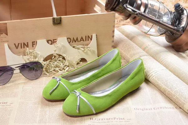 Tods Ballerina Flat Leather TO296 Green