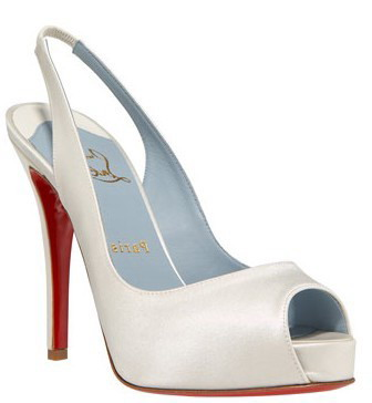 Christian Louboutin No Prive Satin Slingback