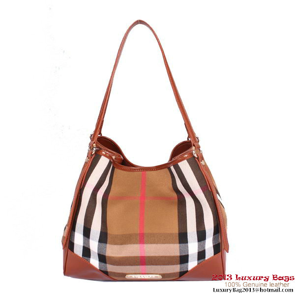 BurBerry Small Bridle House Check Tote Bag B17971 Brown