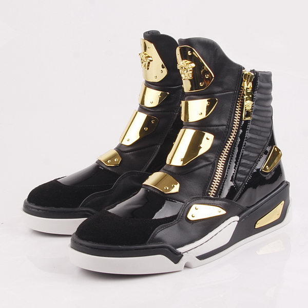 Versace Sneakers Sheepskin Leather VC55 Black