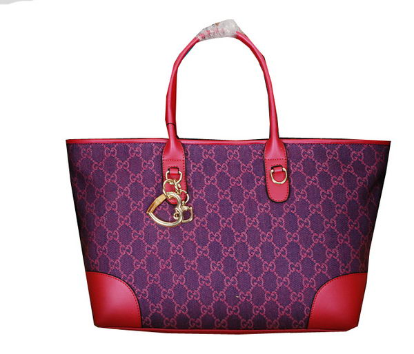 Gucci Heart Bit Medium Tote Bag 269956 Peach