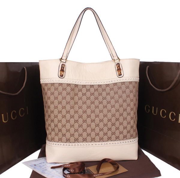Gucci Laidback Crafty Canvas Tote Bag 338999 OffWhite