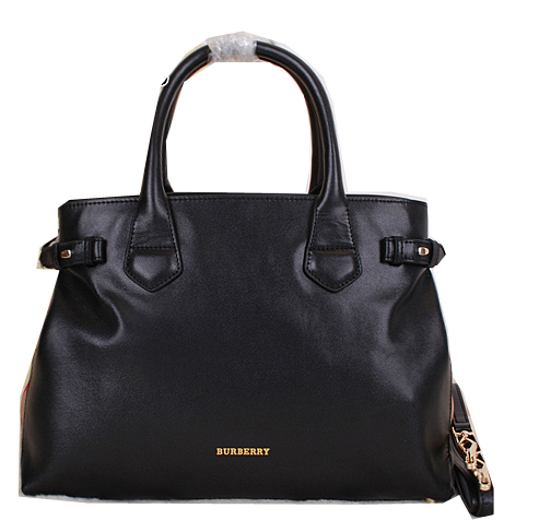BurBerry Tote Bag Calfskin Leather 39269181 Black