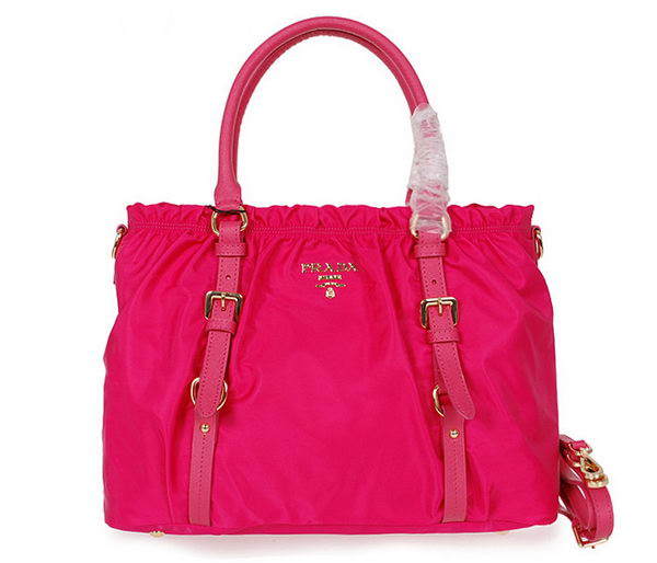 Prada Tessuto Nylon Shopper Tote Bag BN42589 Rose
