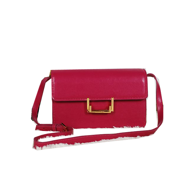 Yves Saint Laurent Classic Medium Lulu Bag in Burgundy Leather