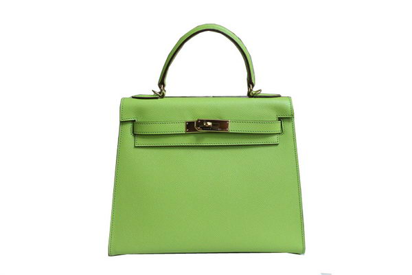 Hermes Kelly 32cm Shoulder Bag Green Saffiano Leather K32 Gold