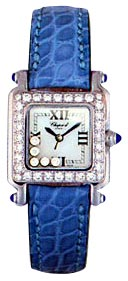 Chopard Happy Sport Series Diamond Steel Ladies Swiss Quartz Wristwatch 27889423-11 in Blue