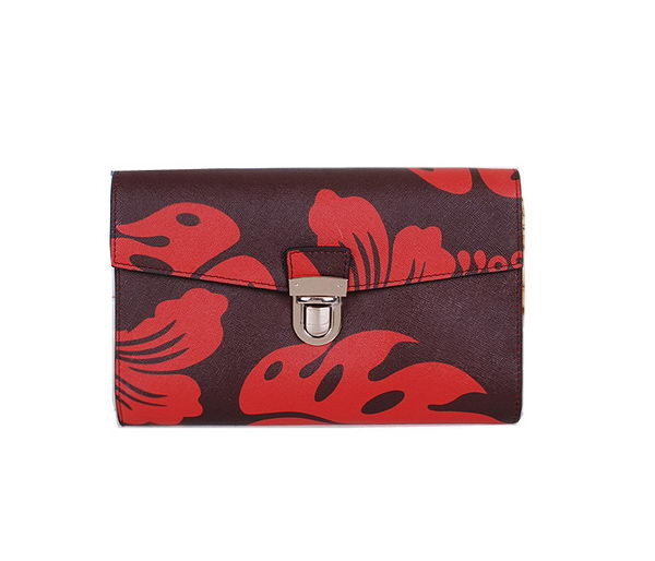 Prada Saffiano Leather Document Holder P60022 Red
