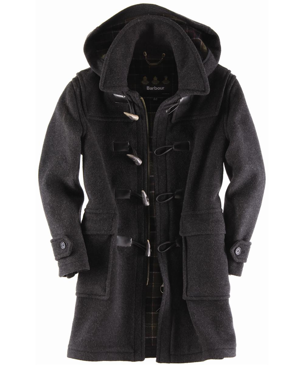 Barbour Mens Classic Duffle Coat Long- Anthracite