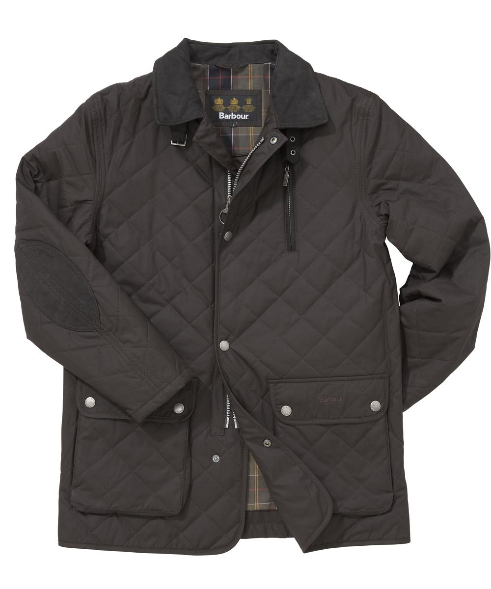 Mens Barbour Chiswick Quilted Jacket - Dark Brown