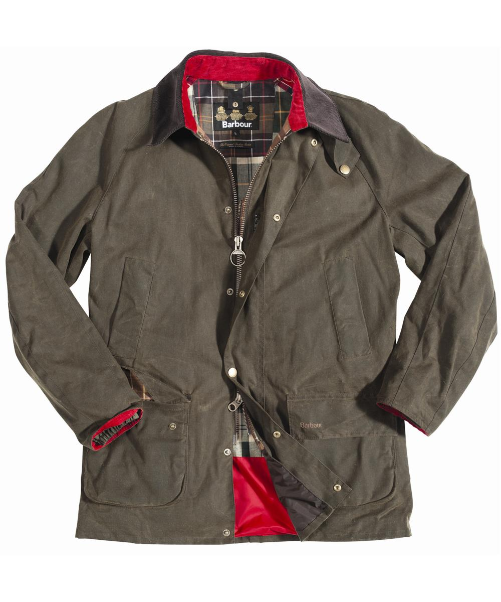 Mens Barbour Housesteads Waxed Jacket Olive