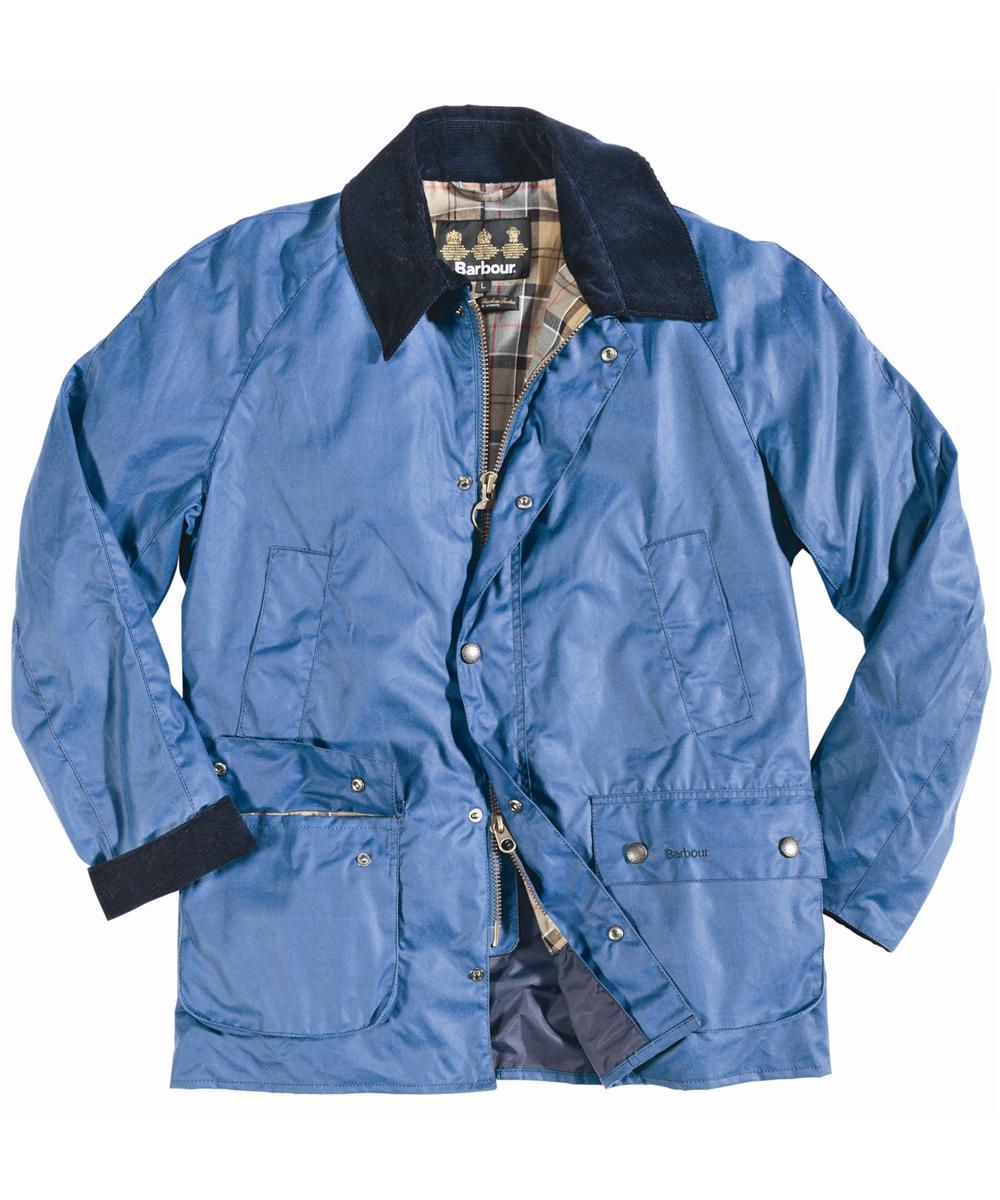 Mens Barbour Ashby Waxed Jacket - Blue